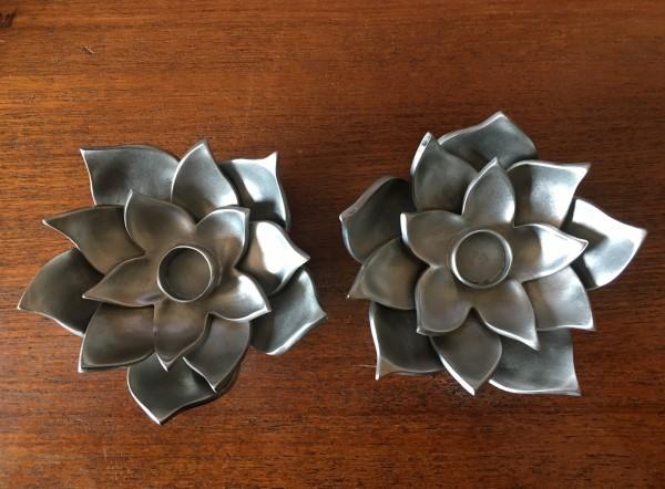 Lotus Flower Shabbat Candle Holders Aimee Golant