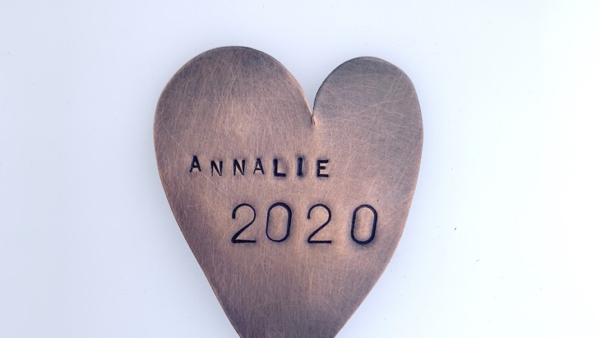 Personalized Copper Heart Momentos small