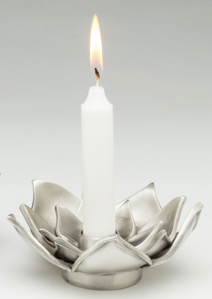 Single lotus flower candle holder aimee golant single lotus flower candle holder mightylinksfo