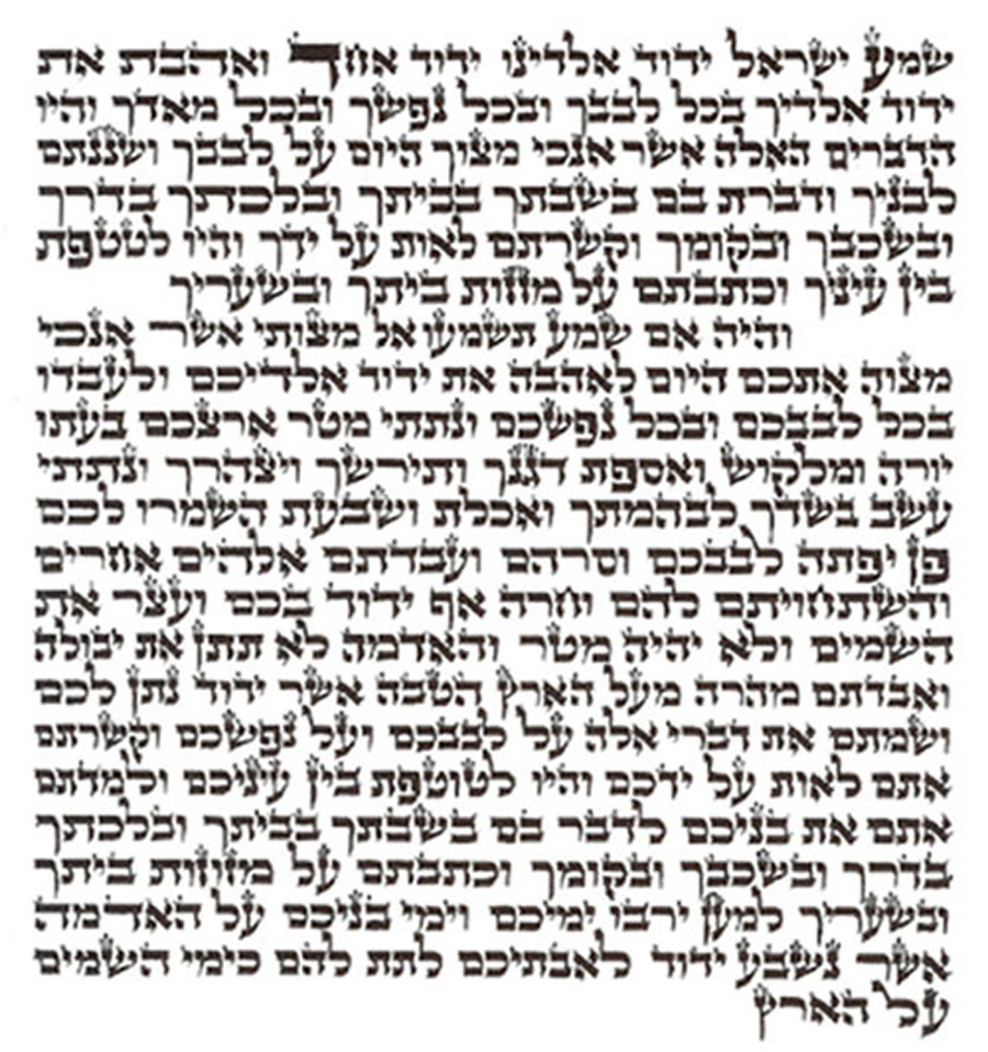 image relating to Mezuzah Scroll Printable named Kosher Mezuzah Scroll