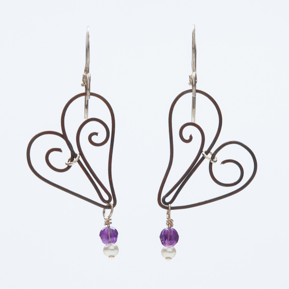 focus rebecca earrings lavender lavendar earring blue gem alixandra hoop teardrop products