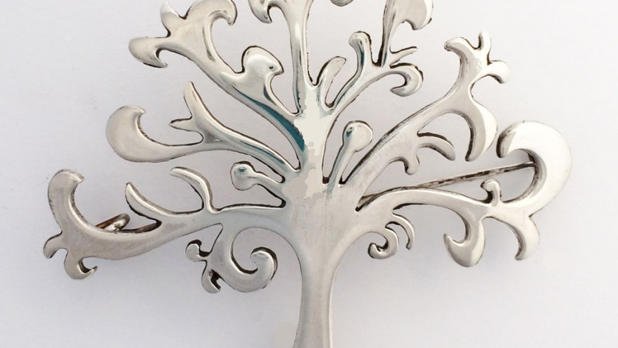 Large Shin Tree of Life Brooch