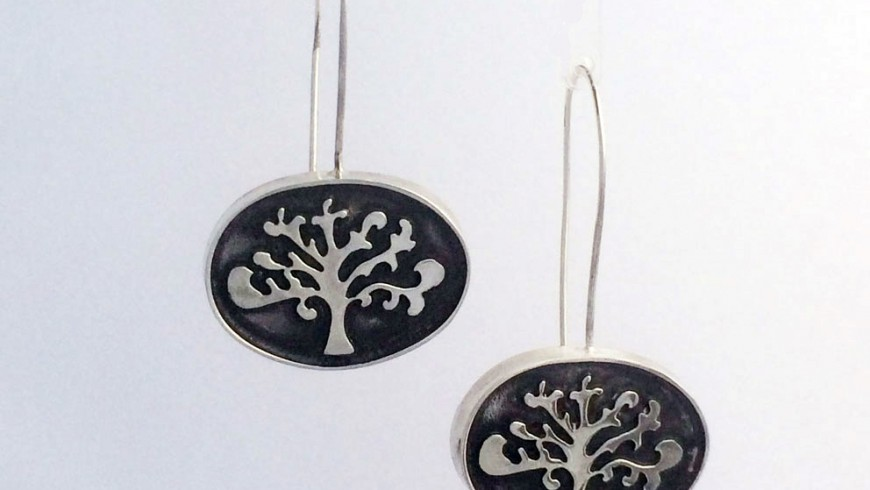 Shin Tree of Life Oval Earrings (Available in two lengths)