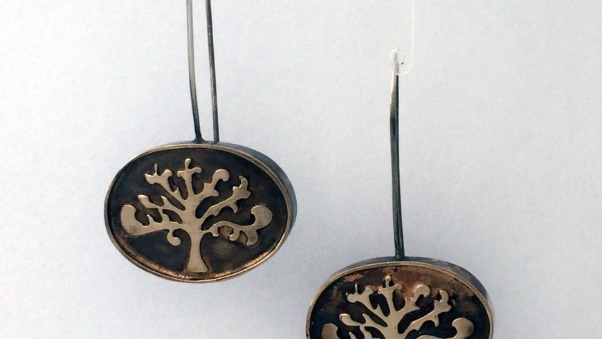 Shin Tree of Life Oval Earrings Bronze (Available in two lengths)