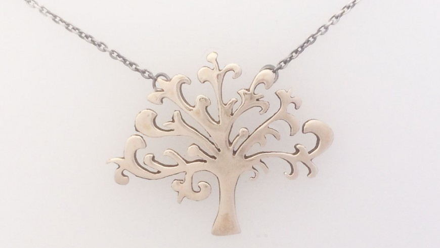 Shin-Tree of Life Bronze Pendant